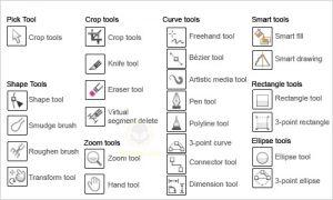 Penjelasan 15 Tool Dasar Di CorelDraw